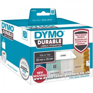 Dymo LabelWriter 1933083 DURABLE Square Labels - NEW!
