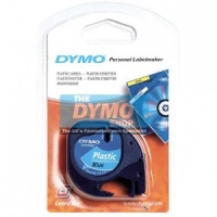 Dymo 12mm Blue Plastic LetraTAG tape (91205)