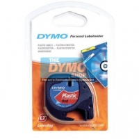 Dymo 12mm Red Plastic LetraTAG tape (91203)