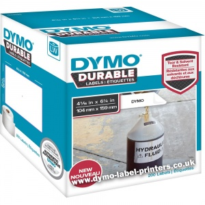 Dymo LabelWriter 1933086  DURABLE Extra Large Shipping Labels (4XL Printers Only) - NEW!