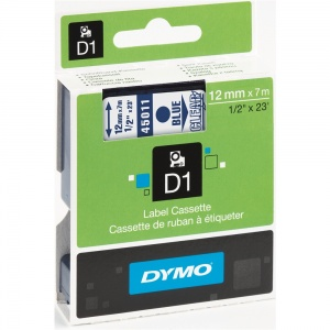 Dymo 12mm Blue On Clear D1 Tape (45011)