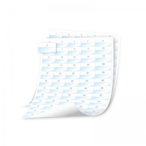 Dymo XTL 41x23mm  Polyester (Sheet) Laminated Cable Wrap SHEET Labels