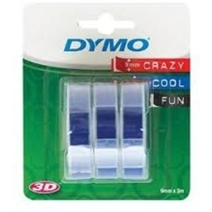 Dymo 9mm White On Blue Embossing Tape Pack of 3 (S0847740)