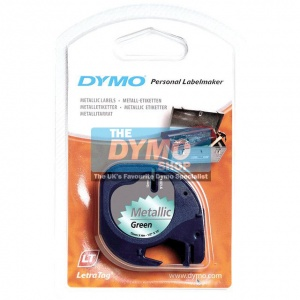 Dymo 12mm Metallic Green LetraTAG tape (91209) - DISCONTINUED