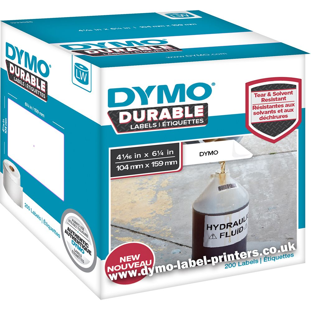 Dymo labelwriter 1933086 durable extra large shipping for Dymo custom labels