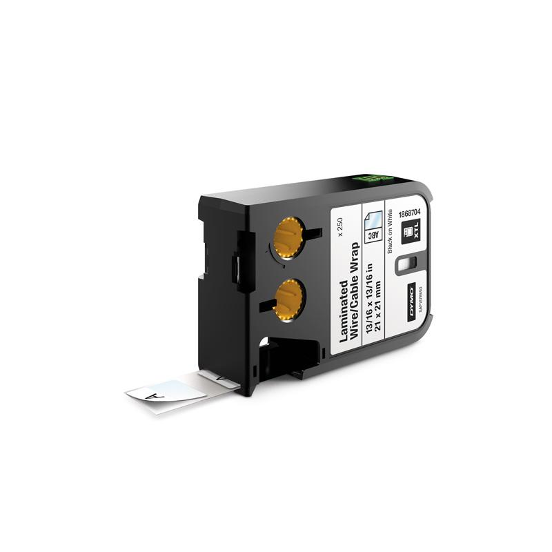 Dymo Xtl 1868704 21x21mm Laminated Cable Wrap Dymo Label