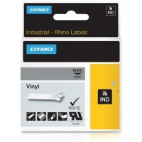 Dymo Rhino 12mm Black on Grey Vinyl Tape (1805413)