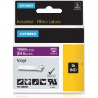 Dymo Rhino 19mm White on Purple Vinyl Tape (1805421)