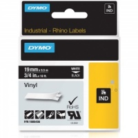Dymo Rhino 19mm White on Black Vinyl Tape (1805436)