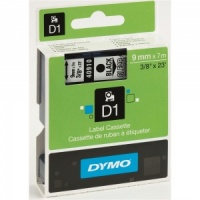 Dymo 9mm Black On Clear D1 Tape (40910)