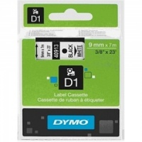 Dymo 9mm Black On White D1 Tape (40913)