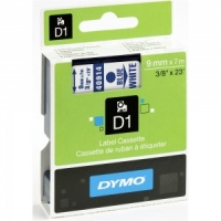 Dymo 9mm Blue On White D1 Tape (40914)