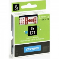 Dymo 9mm Red On White D1 Tape (40915)