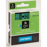 Dymo 9mm Black On Green D1 Tape (40919)