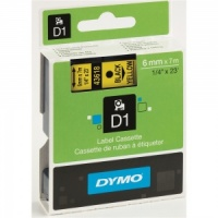 Dymo 6mm Black On Yellow D1 Tape (43618)
