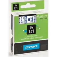 Dymo 12mm Blue On White D1 Tape (45014)