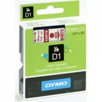 Dymo 12mm Red On White D1 Tape (45015)