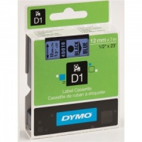 Dymo 12mm Black On Blue D1 Tape (45016)