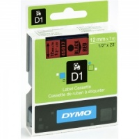 Dymo 12mm Black On Red D1 Tape (45017)