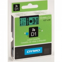 Dymo 12mm Black On Green D1 Tape (45019)