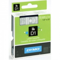 Dymo 12mm White On Clear D1 Tape (45020)