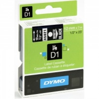 Dymo 12mm White On Black D1 Tape (45021)