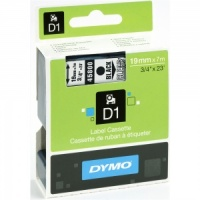 Dymo 19mm Black On Clear D1 Tape (45800)