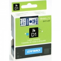 Dymo 19mm Blue On White D1 Tape (45804)
