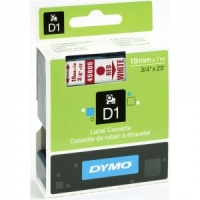 Dymo 19mm Red On White D1 Tape (45805)