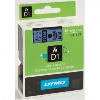 Dymo 19mm Black On Blue D1 Tape (45806)