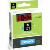 Dymo 19mm Black On Red D1 Tape (45807)