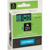 Dymo 19mm Black On Green D1 Tape (45809)