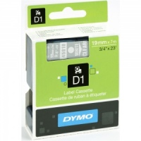 Dymo 19mm White On Clear D1 Tape (45810) - Discontinued