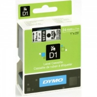 Dymo 24mm Black On Clear D1 Tape (53710)