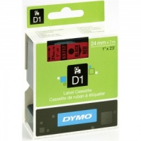 Dymo 24mm Black On Red D1 Tape (53717)