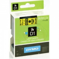 Dymo 24mm Black On Yellow D1 Tape (53718)
