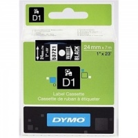 Dymo 24mm White On Black D1 Tape (53721)