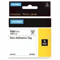 Dymo Rhino 6mm White Non-Adhesive Tag (18111) - DISCONTINUED