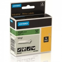 Dymo Rhino 12mm Black on Green Vinyl Tape - 12mm (18441) - DISCONTINUED