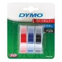Dymo 9mm Mixed Colours Embossing Tape Pack of 3 (S0847750)