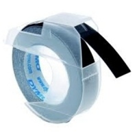 Dymo 9mm White On Black Embossing Tape (S0898130)