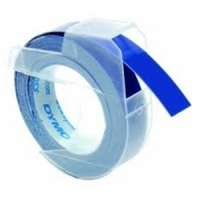 Dymo 9mm White On Blue Embossing Tape (S0898140)