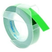 Dymo 9mm White On Green Embossing Tape (S0898160)