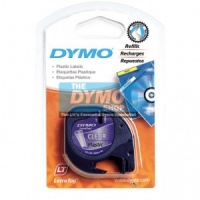 Dymo 12mm Black On Clear LetraTAG tape (12267)