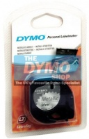 Dymo 12mm Metallic Silver LetraTAG tape (91208)