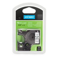 Dymo 19mm Black On White Permanent Nylon D1 Tape (16958)