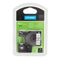 Dymo 19mm Black On White Polyester D1 Tape (16960)